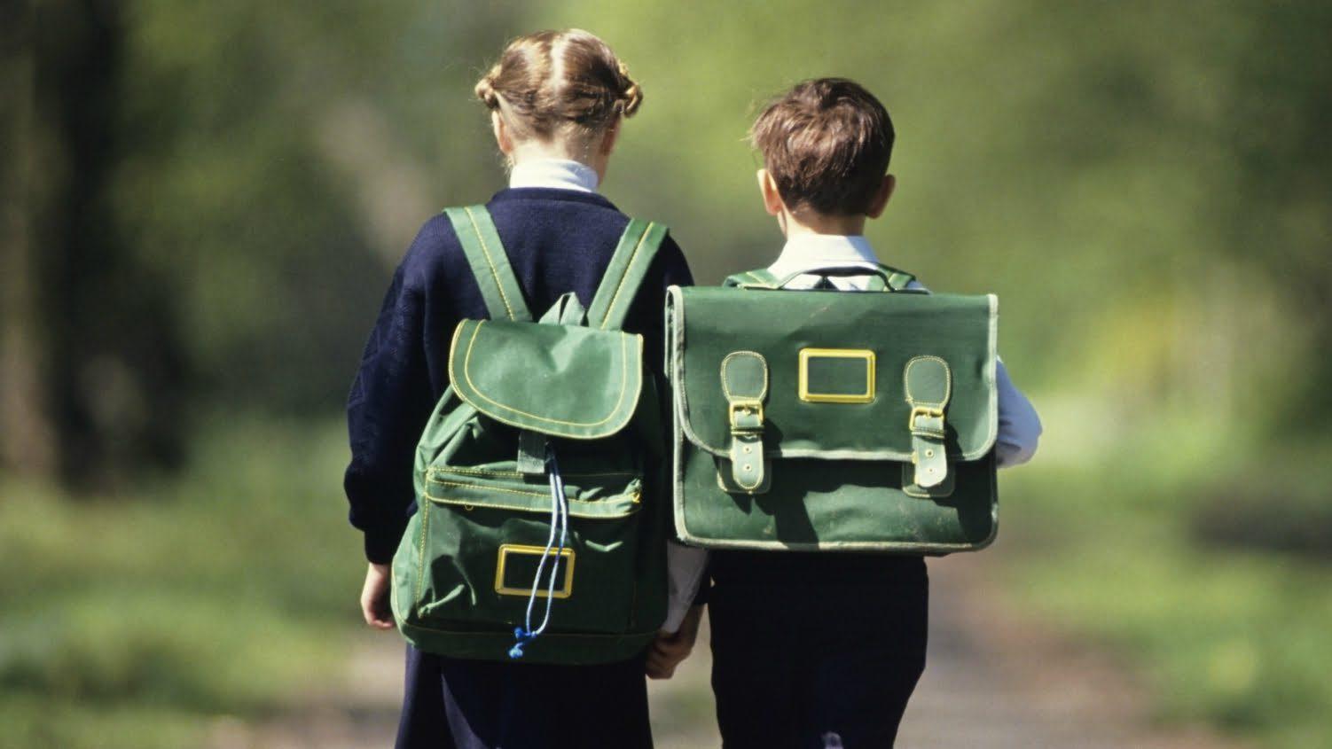 дети с портфелями
